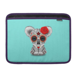 Red Day of the Dead Baby Koala MacBook Sleeve