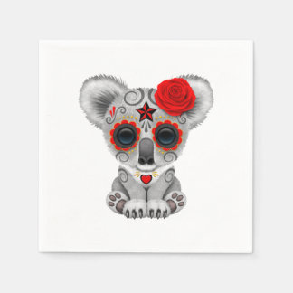 Red Day of the Dead Baby Koala Paper Napkin