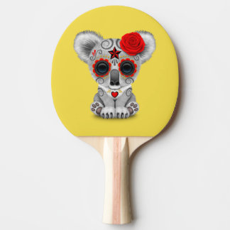 Red Day of the Dead Baby Koala Ping Pong Paddle