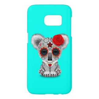 Red Day of the Dead Baby Koala Samsung Galaxy S7 Case