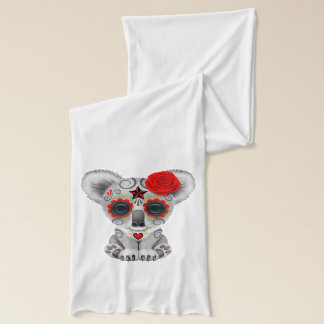 Red Day of the Dead Baby Koala Scarf