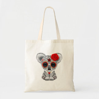 Red Day of the Dead Baby Koala Tote Bag