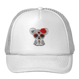 Red Day of the Dead Baby Koala Trucker Hat