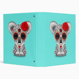 Red Day of the Dead Baby Koala Vinyl Binders