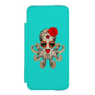 Red Day of the Dead Baby Octopus Incipio Watson™ iPhone 5 Wallet Case