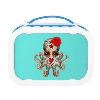 Red Day of the Dead Baby Octopus Lunch Box
