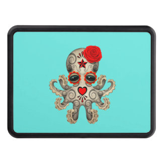 Red Day of the Dead Baby Octopus Trailer Hitch Cover