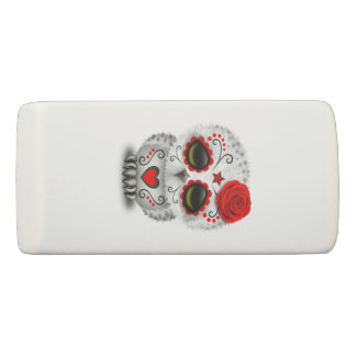 Red Day of the Dead Baby Owl Eraser