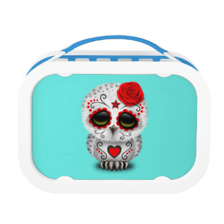 Red Day of the Dead Baby Owl Lunch Box