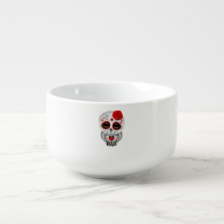 Red Day of the Dead Baby Owl Soup Mug