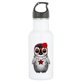Red Day of the Dead Baby Penguin 532 Ml Water Bottle
