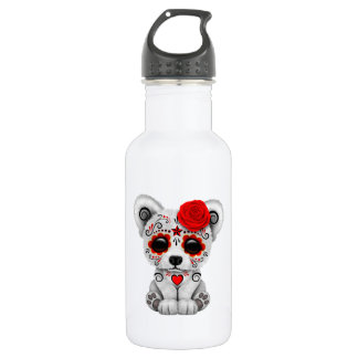 Red Day of the Dead Baby Polar Bear 532 Ml Water Bottle