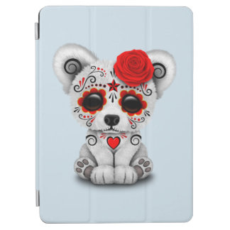 Red Day of the Dead Baby Polar Bear iPad Air Cover