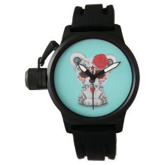Red Day of the Dead Baby Polar Bear Watch