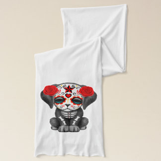 Red Day of the Dead Baby Puppy Dog Scarf