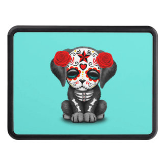 Red Day of the Dead Baby Puppy Dog Trailer Hitch Cover