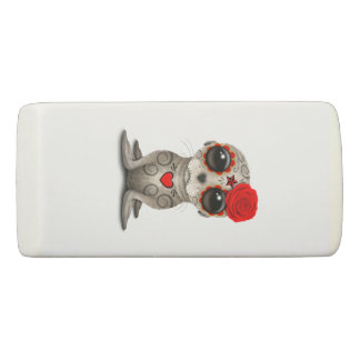Red Day of the Dead Baby Sea Lion Eraser