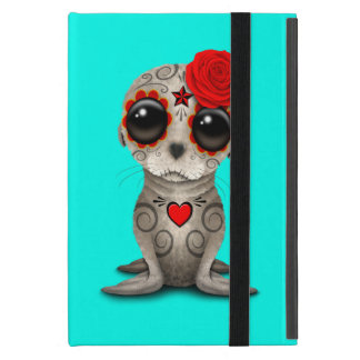 Red Day of the Dead Baby Sea Lion iPad Mini Cover
