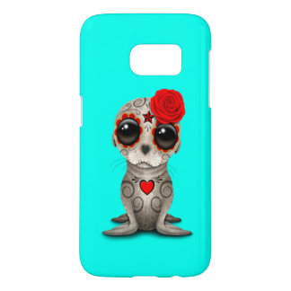 Red Day of the Dead Baby Sea Lion Samsung Galaxy S7 Case