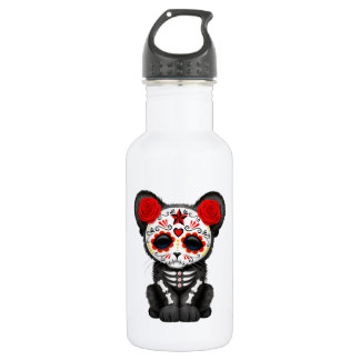 Red Day of the Dead Black Panther Cub 532 Ml Water Bottle