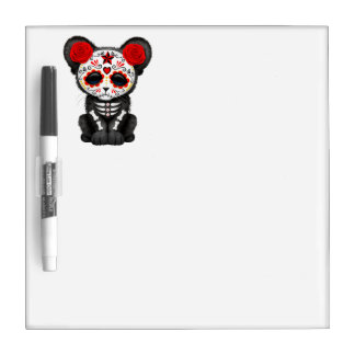 Red Day of the Dead Black Panther Cub Dry Erase Board