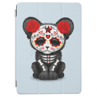 Red Day of the Dead Black Panther Cub iPad Air Cover