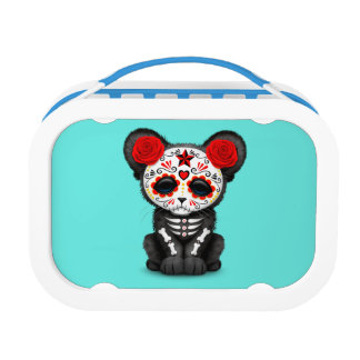 Red Day of the Dead Black Panther Cub Lunch Box