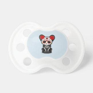 Red Day of the Dead Black Panther Cub Pacifier