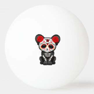 Red Day of the Dead Black Panther Cub Ping Pong Ball