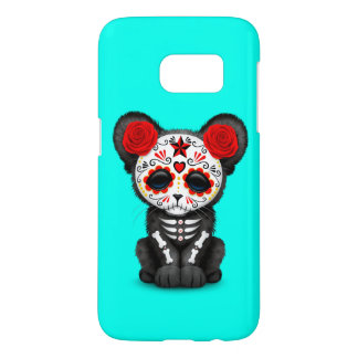 Red Day of the Dead Black Panther Cub Samsung Galaxy S7 Case