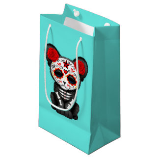 Red Day of the Dead Black Panther Cub Small Gift Bag