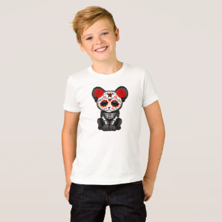 Red Day of the Dead Black Panther Cub T-Shirt