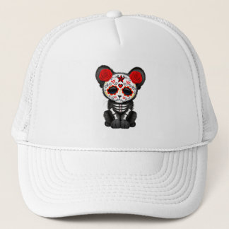 Red Day of the Dead Black Panther Cub Trucker Hat