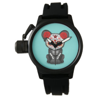 Red Day of the Dead Black Panther Cub Watch