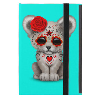 Red Day of the Dead Lion Cub Case For iPad Mini