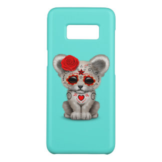 Red Day of the Dead Lion Cub Case-Mate Samsung Galaxy S8 Case
