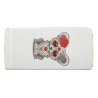 Red Day of the Dead Lion Cub Eraser