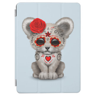 Red Day of the Dead Lion Cub iPad Air Cover