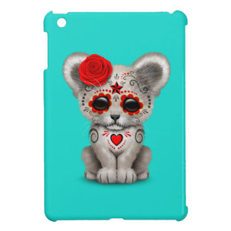 Red Day of the Dead Lion Cub iPad Mini Cover
