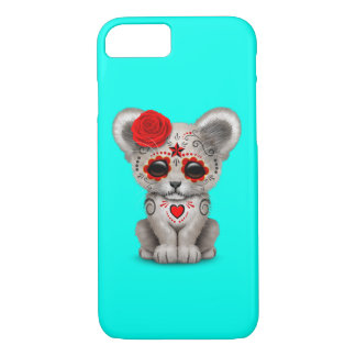 Red Day of the Dead Lion Cub iPhone 8/7 Case