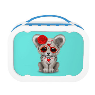 Red Day of the Dead Lion Cub Lunch Box