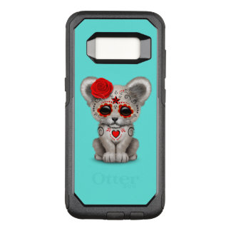 Red Day of the Dead Lion Cub OtterBox Commuter Samsung Galaxy S8 Case
