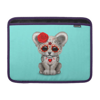 Red Day of the Dead Lion Cub Sleeve For MacBook Air