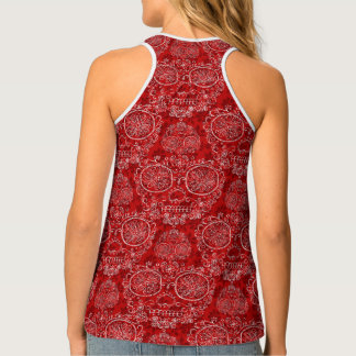 Red Day Of The Dead Tank Top