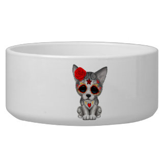 Red Day of the Dead Wolf Cub