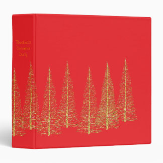 Red December Christmas Scrapbook Album Binder
