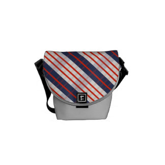 Red Deep Blue Stripe Courier Bag
