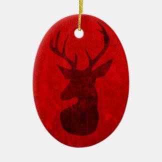 Red Deer Design Ceramic Ornament