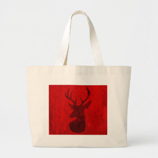 Red Deer Design Large Tote Bag