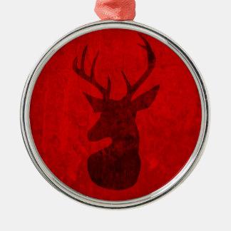 Red Deer Design Metal Ornament
